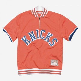 Mitchell & Ness NBA Nba 1/4 Zip Shooting Shirts - New York Knicks