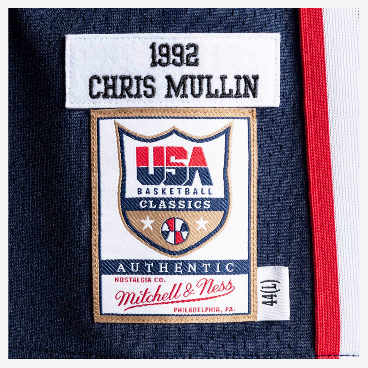 Mitchell & Ness 1992 Team USA Authentic Jersey -Chris Mullin